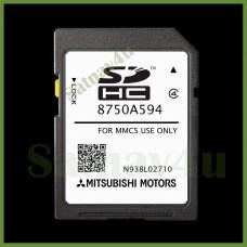 Mitsubishi MMCS Navigation SD Card  SAT NAV MAP EUROPE and UK 8750A594 2020