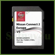 NISSAN Connect 2 V5 navigation SD CARD MAP Europe & UK 2020 - 2021
