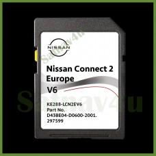 NISSAN Connect 2 V6 navigation SD CARD LATEST MAP Europe & UK 2021 - 2022