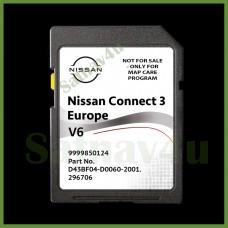 NISSAN CONNECT 3 V6 NAVIGATION SD CARD LATEST MAP EUROPE & UK 2021 - 2022