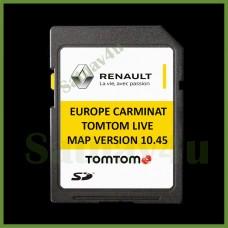 RENAULT CARMINAT LIVE 10.45 Navigation SD Card Map Europe and UK 2020 - 2021