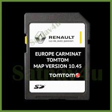 RENAULT CARMINAT 10.45 Navigation SD Card Map Europe and UK 2020 - 2021