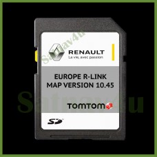 RENAULT R-link Navigation SD Card 10.45 Europe and UK map 2020 - 2021