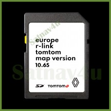 RENAULT R-link Navigation SD Card 10.65 Europe and UK map 2021 - 2022