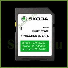 Skoda Amundsen2 MIB2 Navigation SD Card Map Europe and UK 2021 - 2022