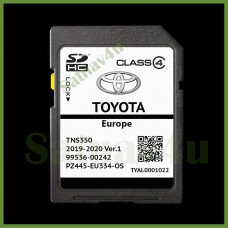 Toyota TNS350 Navigation SD Card Ver.1 Map Europe and UK 2020 - 2021