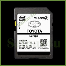 Toyota TNS510 Navigation SD Card Ver.2 Map EUROPE and UK 2020 - 2021