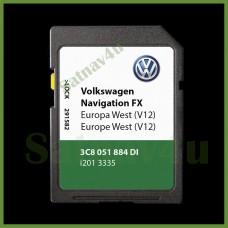 Volkswagen VW RNS310 V12 Navigation SD Card SAT NAV MAP Europe 2020 - 2021